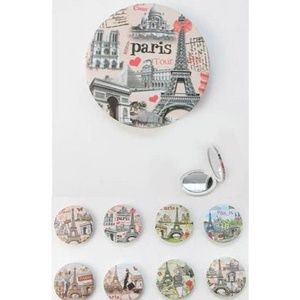Wholesale LOT Paris Theme Compact Mirror Set